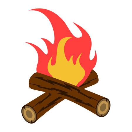 Bonfire icon design template vector isolated illustration Ilustracja