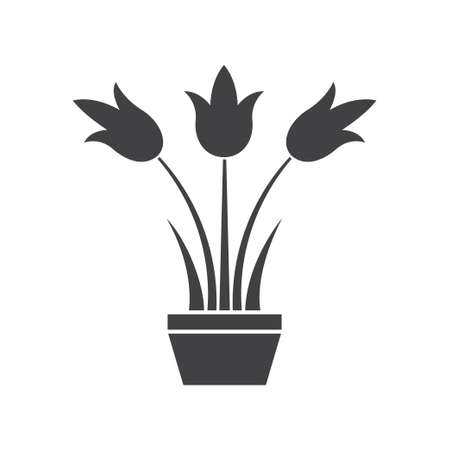 Flower pot icon design template vector isolated illustration