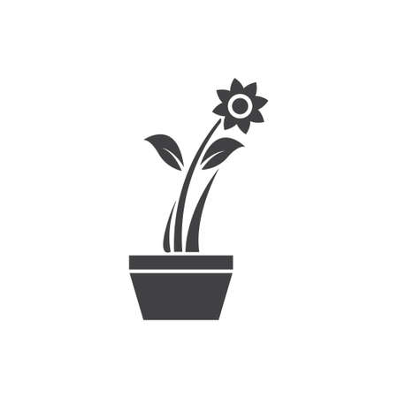 Flower pot icon design template vector isolated illustration Zdjęcie Seryjne - 161246338