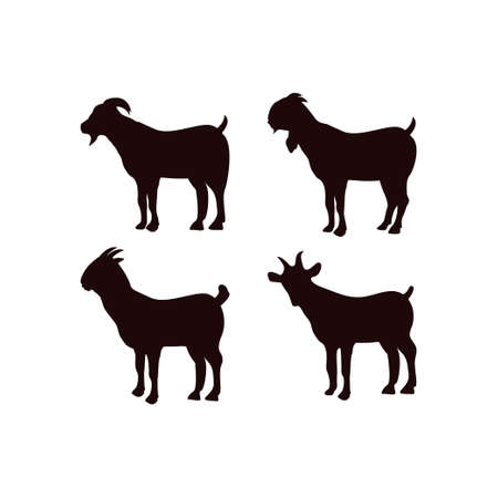 Goat icon design template vector isolated illustration Ilustracja