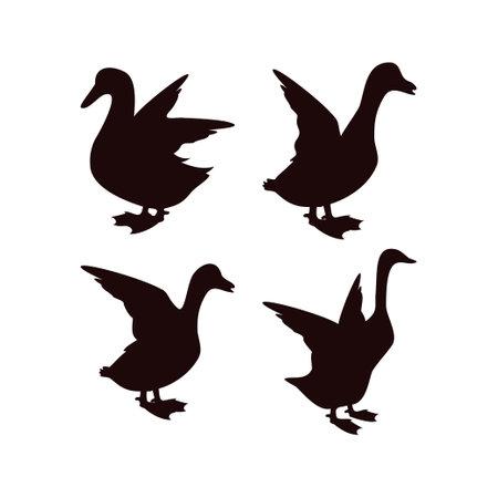 Duck icon design template vector isolated illustration Ilustracja