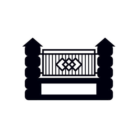Fence gate icon design template vector isolated illustration Zdjęcie Seryjne - 161246345