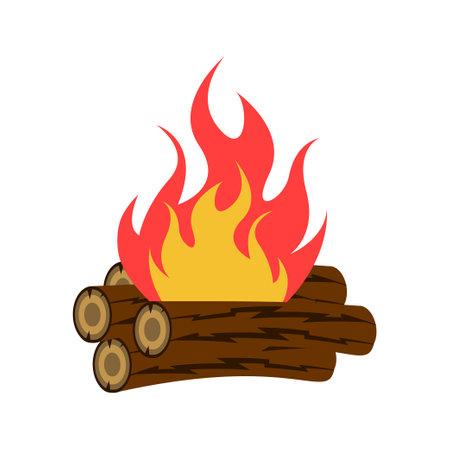 Bonfire icon design template vector isolated illustration Zdjęcie Seryjne - 161246904