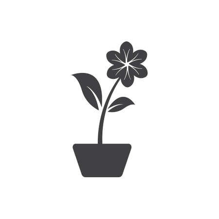 Flower pot icon design template vector isolated illustration Zdjęcie Seryjne - 161246927