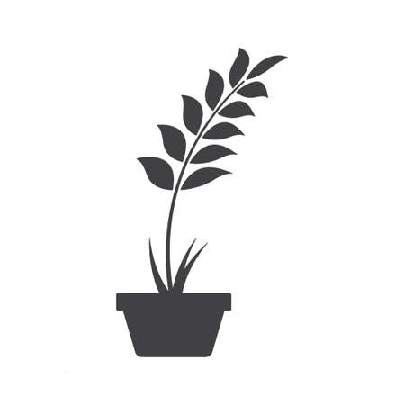 Plant pot icon design template vector isolated illustration Zdjęcie Seryjne - 161247078
