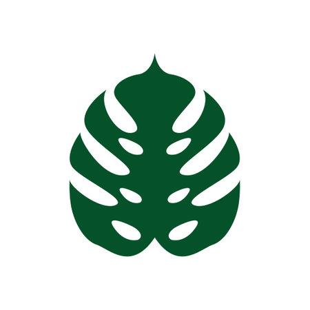 Monstera leaf icon design template vector isolated illustration Ilustracja
