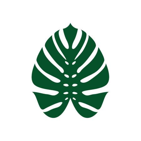 Monstera leaf icon design template vector isolated illustration Zdjęcie Seryjne - 161247085