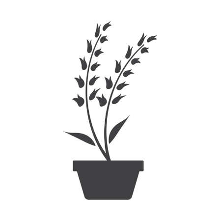 Plant pot icon design template vector isolated illustration Zdjęcie Seryjne - 161247087