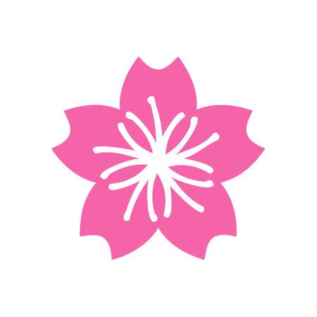 Sakura icon design template vector isolated illustration