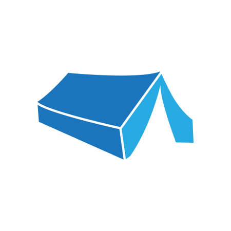 Tent icon design template vector isolated illustration