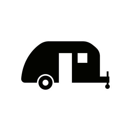 Camping trailer icon design template vector isolated Zdjęcie Seryjne - 161247509