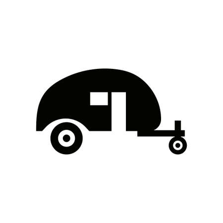 Camping trailer icon design template vector isolated