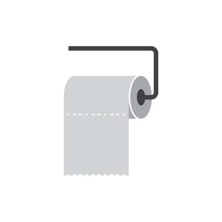 Toilet paper icon design template vector isolated illustration Zdjęcie Seryjne - 161247546