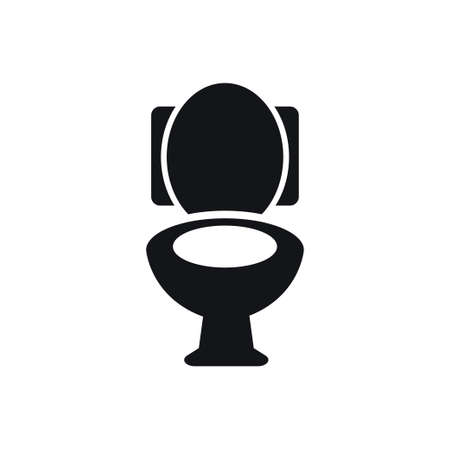 Seat toilet icon design template vector isolated