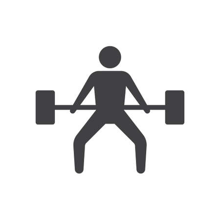 Weightlifting icon design template vector isolated illustration