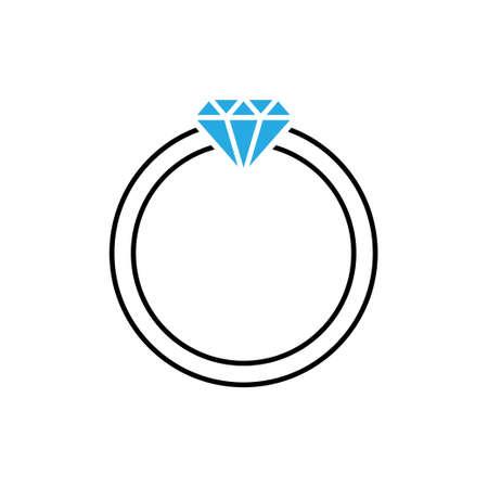 Diamond ring icon design template vector isolated illustration Vetores