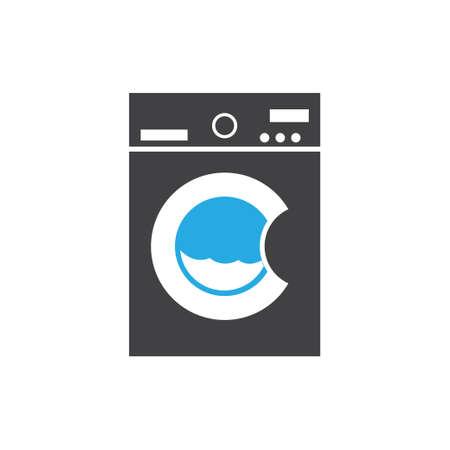 Washing machine icon design template vector isolated illustration Ilustracja