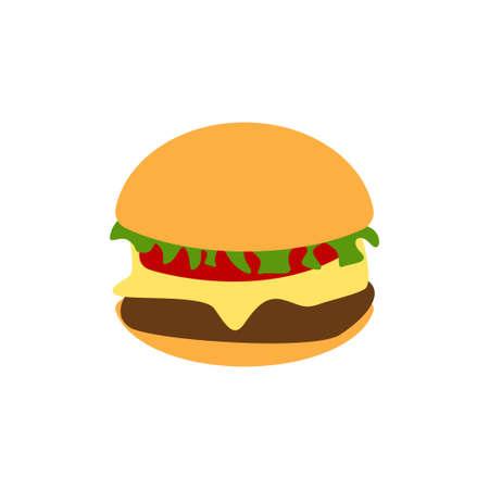 Burger icon design template vector isolated illustration Ilustracja