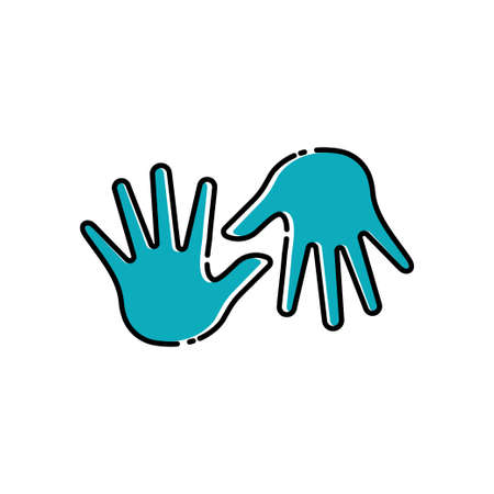 Palm hand icon design template vector isolated illustration Ilustracja