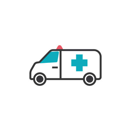 Ambulance icon design template vector isolated illustration