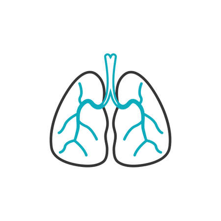 Lung icon design template vector isolated illustration