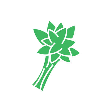 Spinach icon template vector isolated Ilustracja
