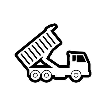 Sand truck icon design template vector isolated illustration