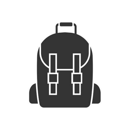 School bag icon design template vector isolated