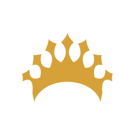 Crown icon design template vector isolated