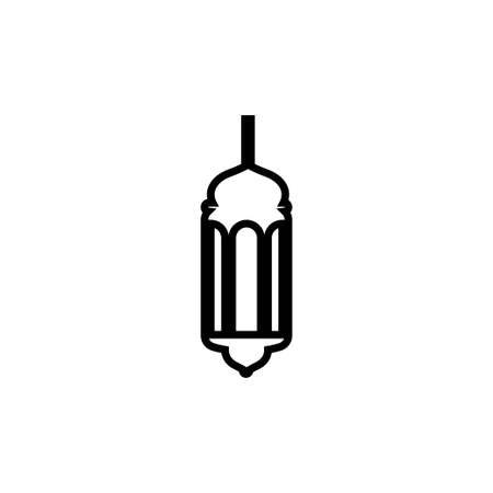 Fanoos lantern islam  icon design template vector isolated