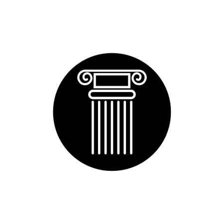 Pillar icon design template vector isolated Vectores