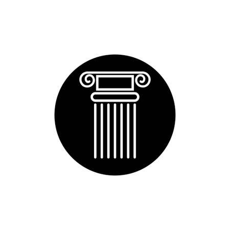 Pillar icon design template vector isolated Ilustração