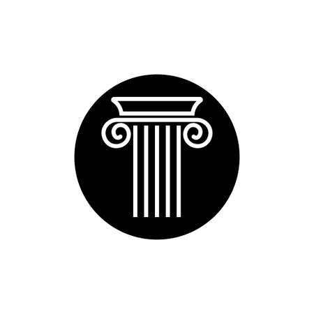 Pillar icon design template vector isolated Illusztráció