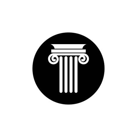 Pillar icon design template vector isolated 免版税图像 - 167967563