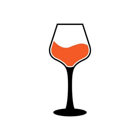 Wine glass icon design template vector illustration