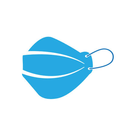 Face shield icon design template vector illustration
