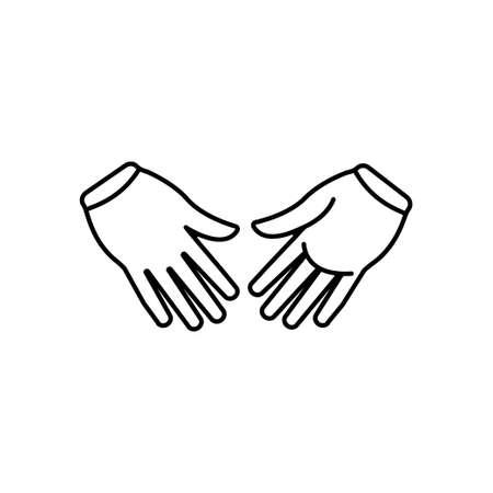 Hand gesture icon design template vector illustration Vectores