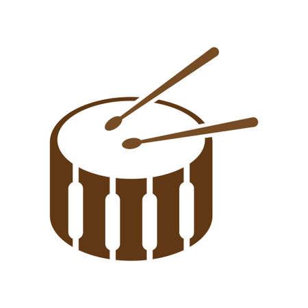 Drum icon design template vector illustration