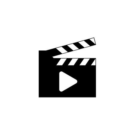 Clapperboard icon design template vector illustration