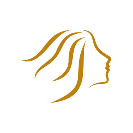 Beauty woman icon design template vector illustration