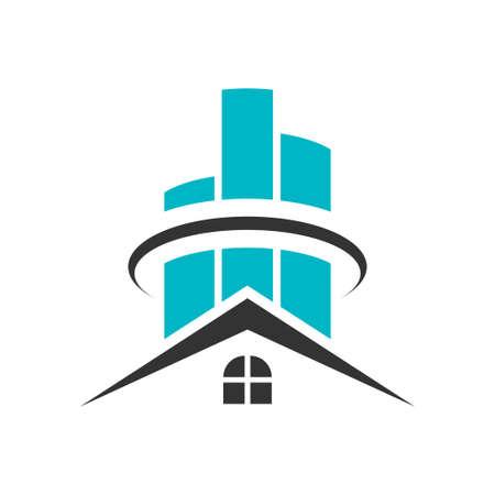 Real estate house icon design template
