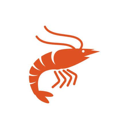 Shrimp icon design template vector illustration 矢量图像