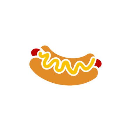Hot dog icon design template vector illustration