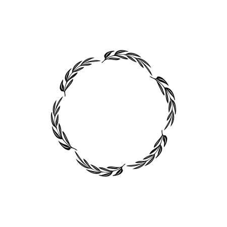Floral decorative circle icon design template vector