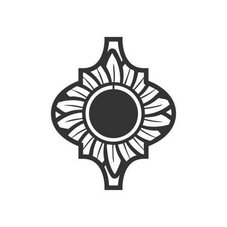 Arabesque icon design template vector