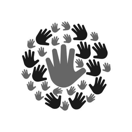 Palm hand icon design template vector 矢量图像