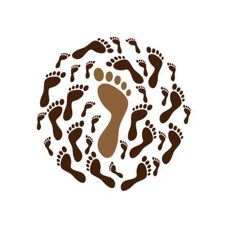 Foot print icon design template vector