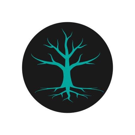 Tree icon design template vector