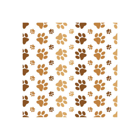 Paw print background icon design template vector