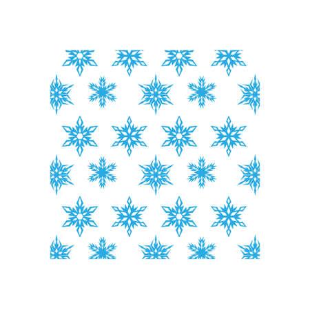 Snowflake icon design template vector